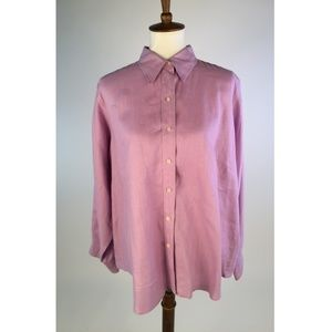 Lauren Ralph Lauren Womens Button Down Shirt 1X